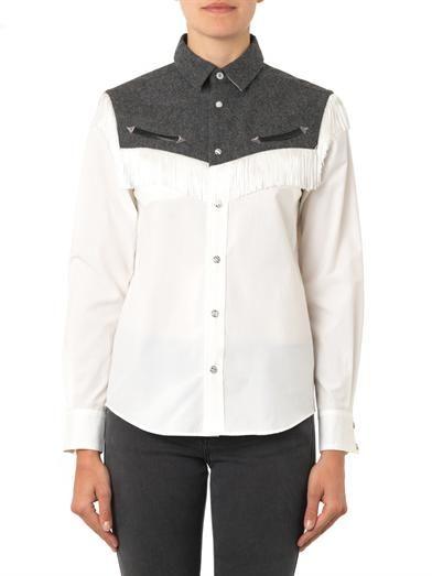 Toga Pulla Western fringed shirt