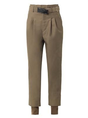 Serge bonded wool-blend trousers