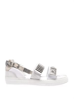 Metal-embellished trainer-style sandals