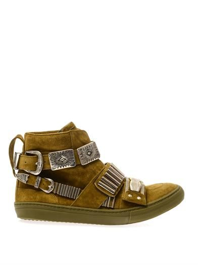 Toga Pulla Embellished suede trainers