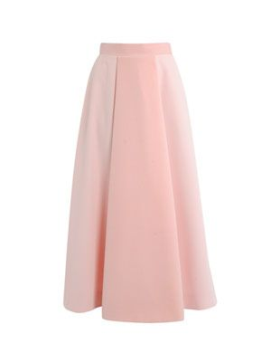 Olive flocked full skirt