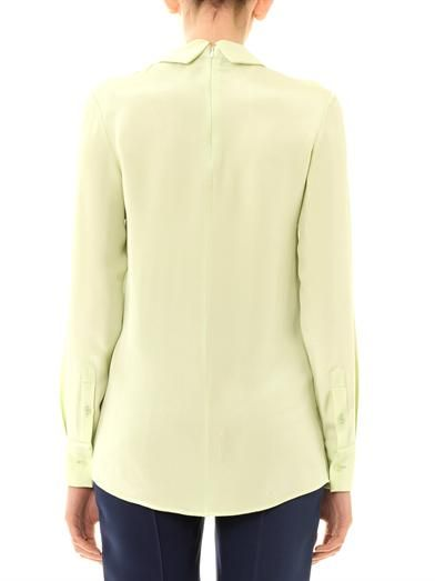 Trager Delaney Florence point-collar blouse