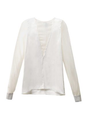 Twisted Rick silk-satin blouse