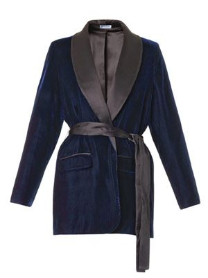 Jonkler velvet smoking jacket