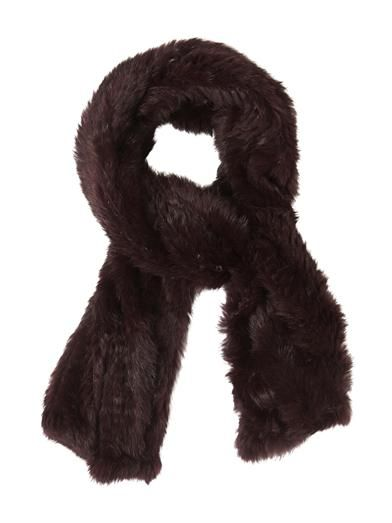 Joseph Knitted fur scarf