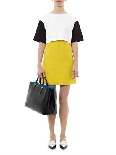 Cédric Charlier Contrast panel cotton dress