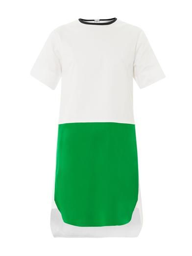 Cédric Charlier Bi-colour cotton shift dress