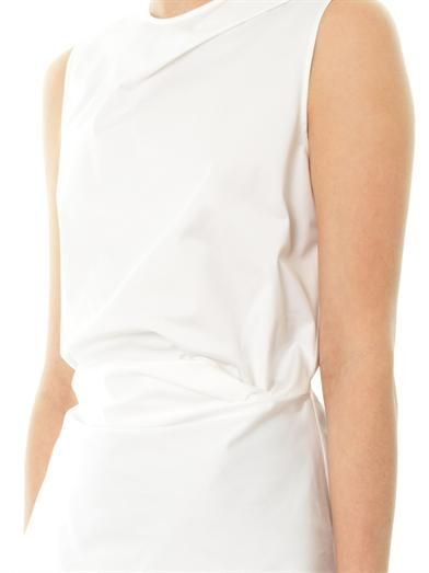 Cédric Charlier Folded-front cotton blouse