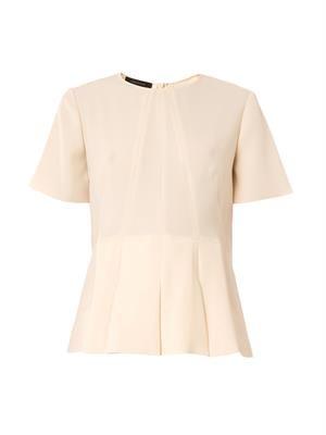 Peplum crepe blouse