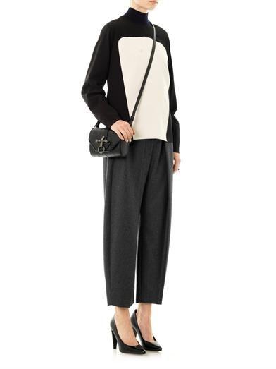 Cédric Charlier Contrast panel crepe blouse