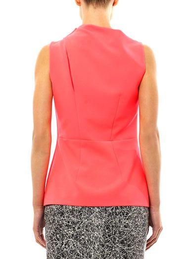 Cédric Charlier Drape shoulder blouse