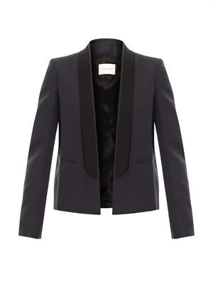 Shawl-lapel blazer