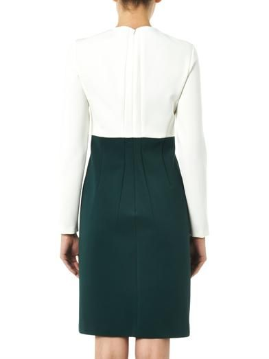 Cédric Charlier Bi-colour stretch-crepe dress