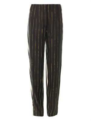 Multi-stripe relaxed trousers