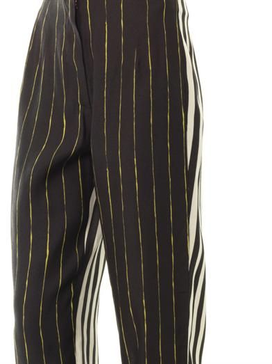 Cédric Charlier Multi-stripe relaxed trousers