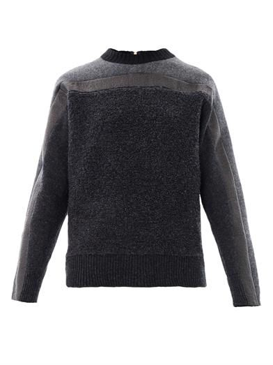 Cédric Charlier Panelled wool sweater