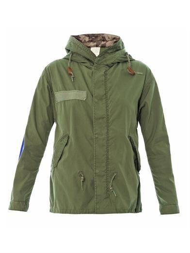 Mr & Mrs Furs Stripe detail parka jacket