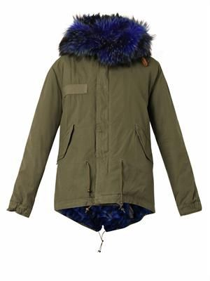 Giovanna fur-lined hooded mini parka