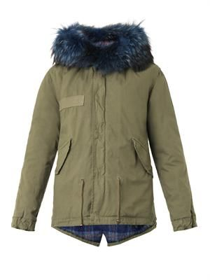 Giovanna fur-trimmed hooded mini parka