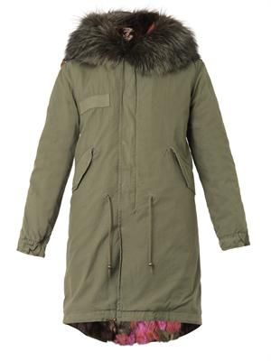 Garance fur-lined hooded long parka