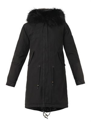 Caroline fur-lined hooded long parka