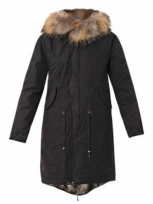 Caroline fur-lined hooded long parka