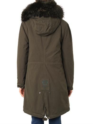 Mr & Mrs Furs Caroline fur-lined hooded long parka
