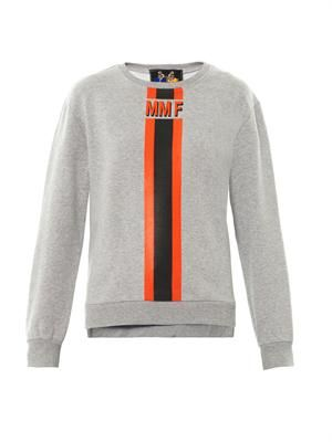 Stripe logo sweatshirt