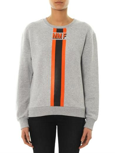 Mr & Mrs Furs Stripe logo sweatshirt