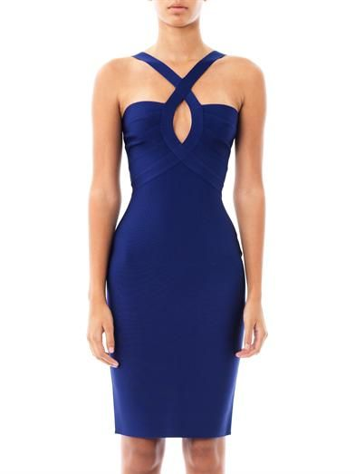 Herve L. Leroux Mai cross-neck dress