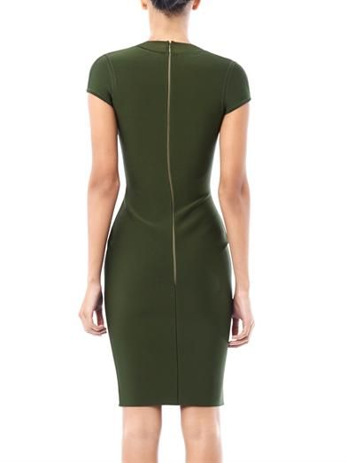 Herve L. Leroux Sheer panel body-con dress
