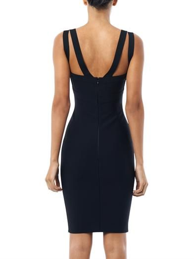 Herve L. Leroux Double strap body-con dress