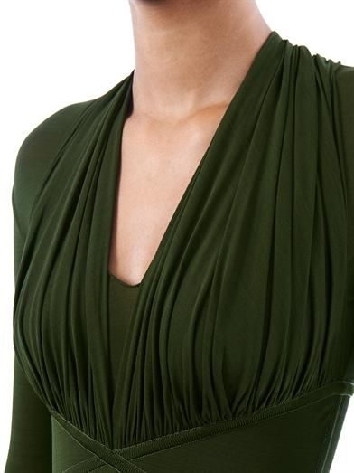 Herve L. Leroux Ruched top body-con dress