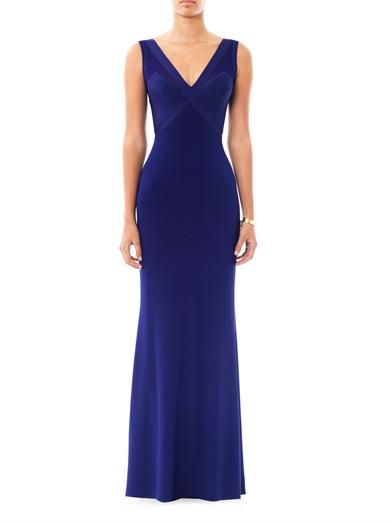 Herve L. Leroux Jac V-neck evening gown