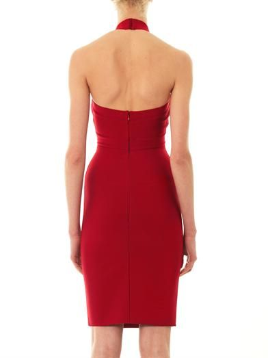 Herve L. Leroux Halterneck body-con dress