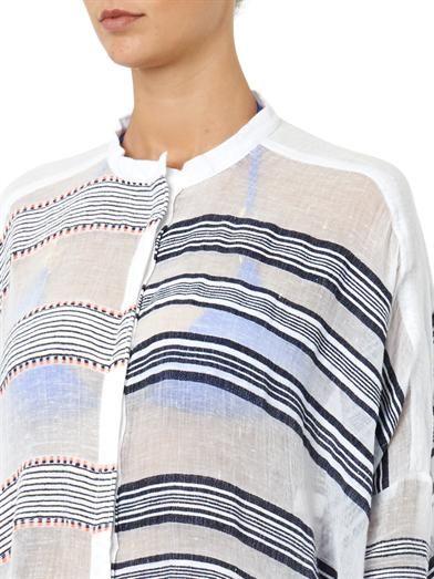 Lemlem Tara contrast-stripe oversized shirt