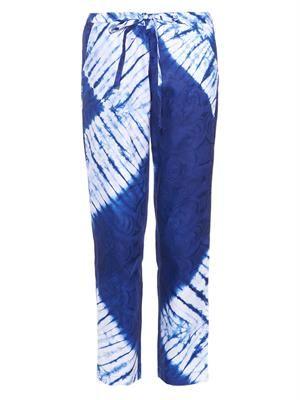 Tie-dye cotton trousers