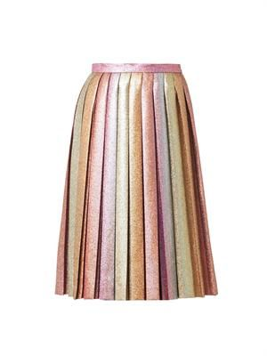 MARCO DE VINCENZO Dégradé Lurex pleated skirt