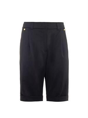 Stretch-wool shorts