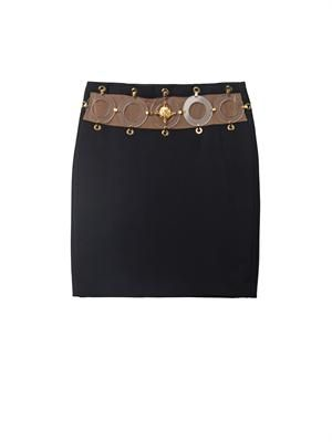 Signature crepe mini skirt
