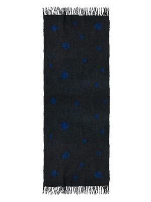 Kobushi Shibori alpaca-blend scarf