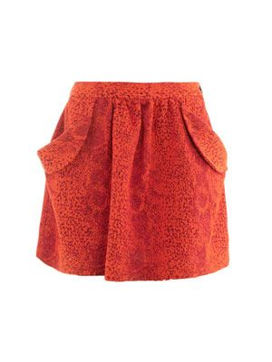 Scale textured skirt