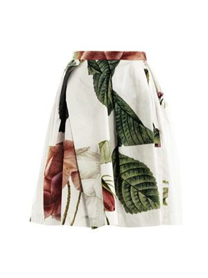 Liberty rose puzzle-print skirt