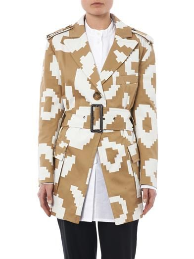 Vivienne Westwood Anglomania Pixelated leopard-print cotton coat