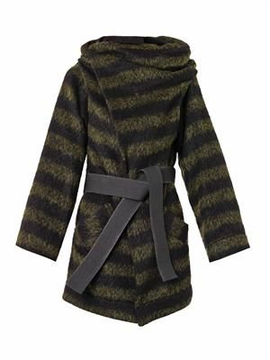 Talik striped wool-blend coat