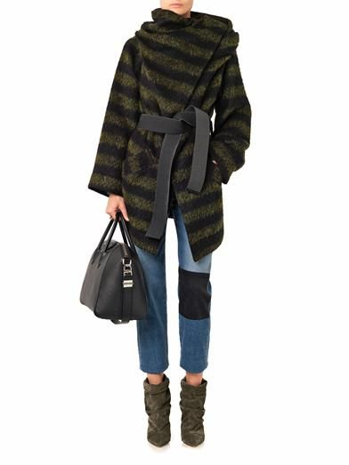 Vivienne Westwood Anglomania Talik striped wool-blend coat