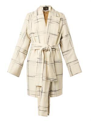 Discovery tartan wool-blend coat