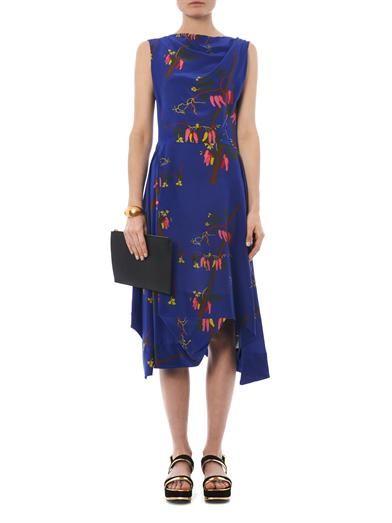 Vivienne Westwood Anglomania Aztek Mayan Orchid-print dress