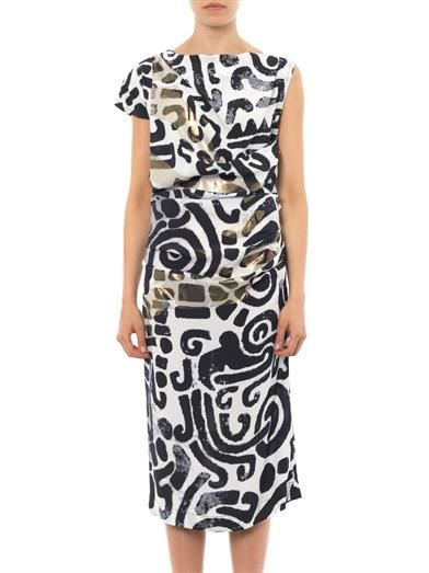 Vivienne Westwood Anglomania Shaman maze-print dress