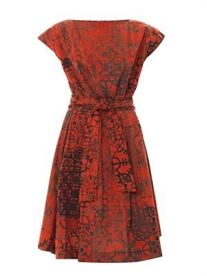 Moa Stave lace-print dress